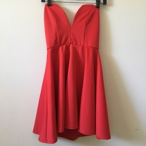 Strapless Marilyn Monroe style red dress